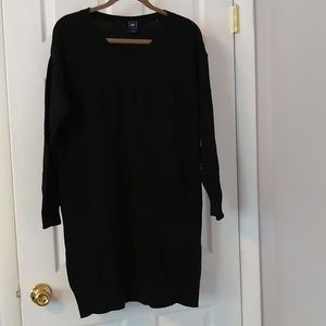 Gap Sweater dress xl,  black dress